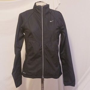 NIKE Storm-Fit Black Zippered Convertible Jacket